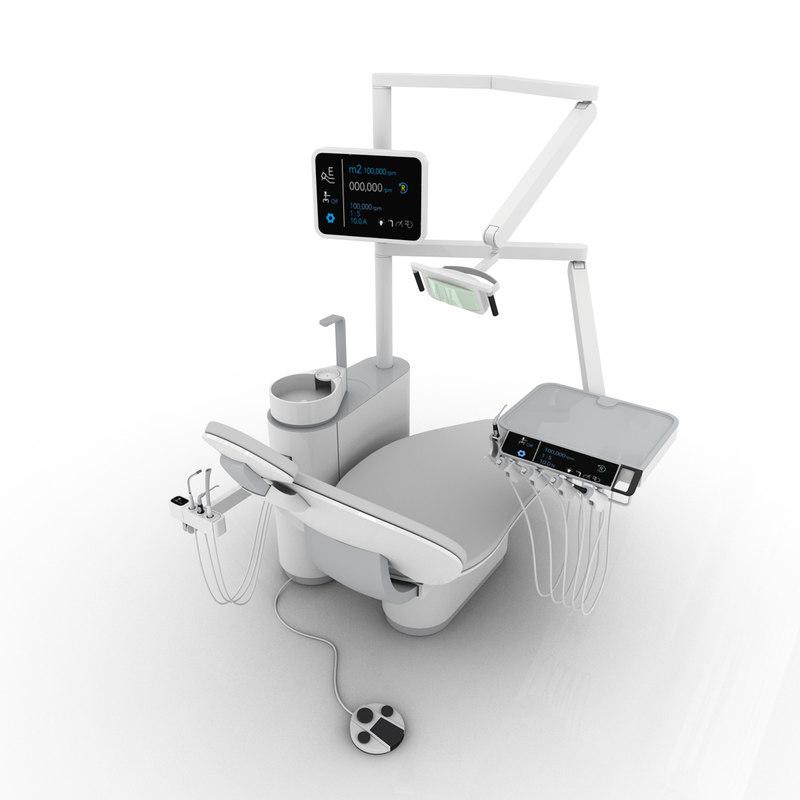 3d dental chair model