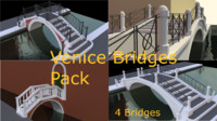venetian bridges 3d model