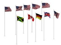 3dsmax 10 flag