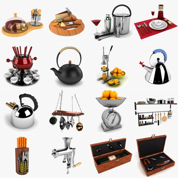 3d cheese kitchen kit