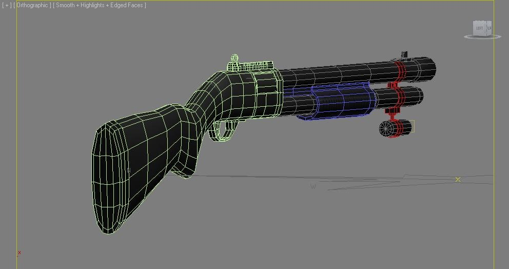 3d model remington 870