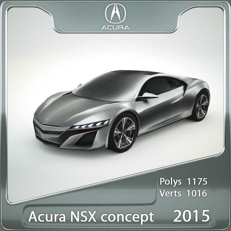2015 acura honda nsx 3d model