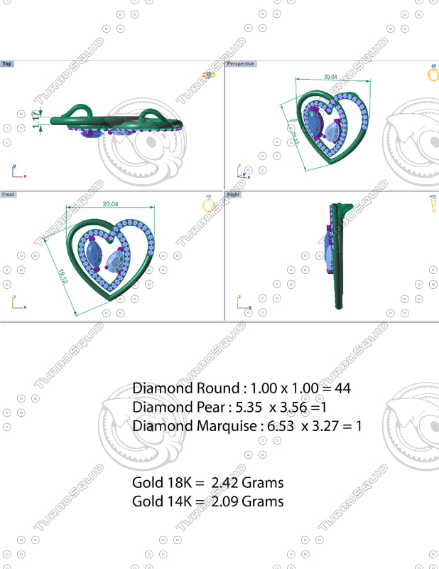 3d model great pendant