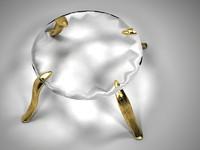 golden glass table