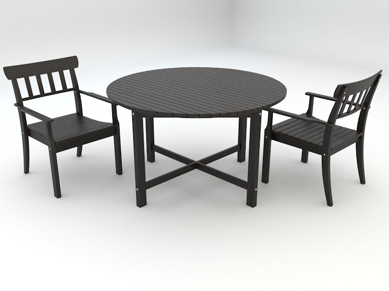 3ds max ikea angso series outdoor table
