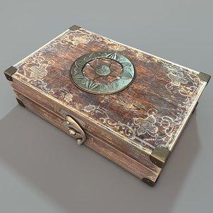 antique travelling case 3d obj