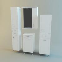 3d max set bathroom furniture