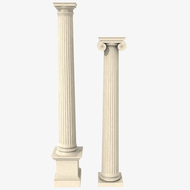 antique columns 3d model