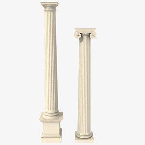 antique columns 3d model