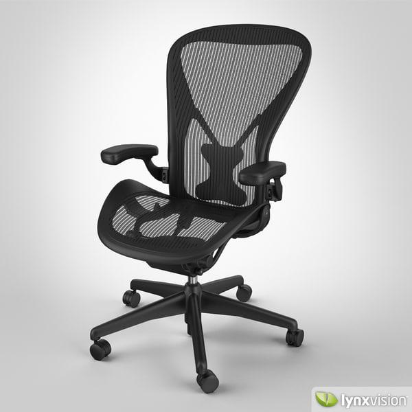 aeron chair herman miller 3d max