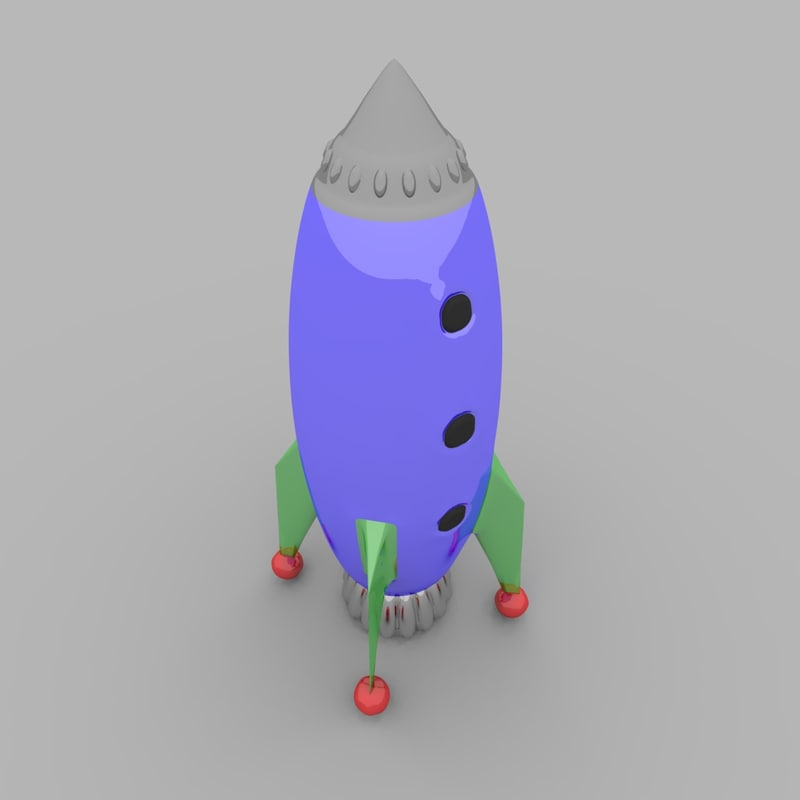free toy rocketship 3d model