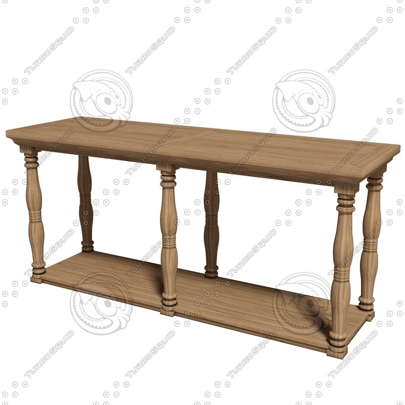 3d eichholtz table console lombardi model