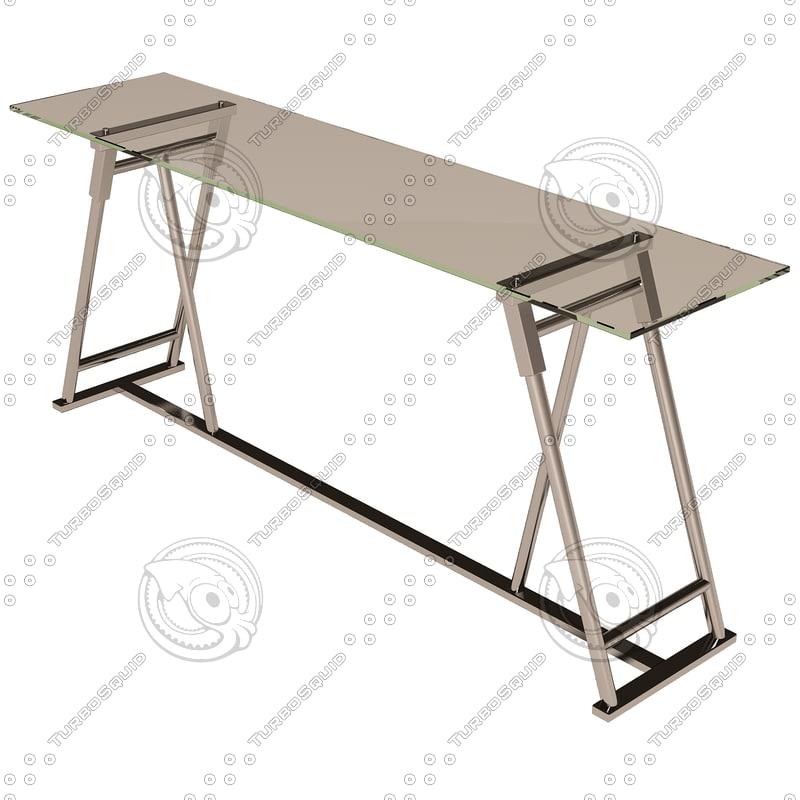 eichholtz table console maddox 3d model