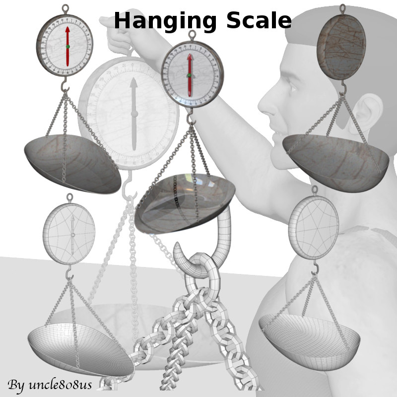hanging scale 3d model