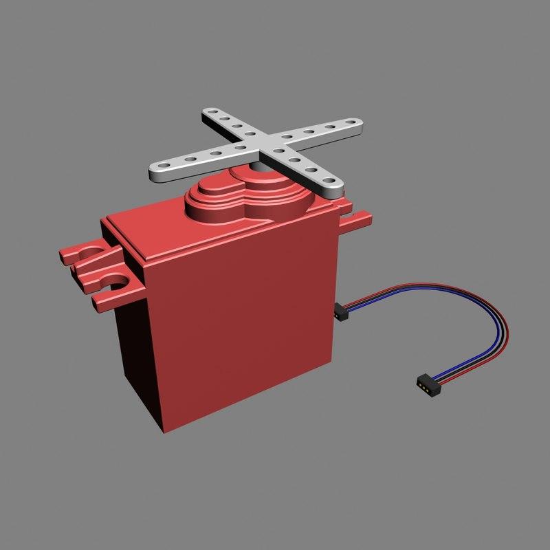 3d model of servo motor for Industrial servo motor tutorial