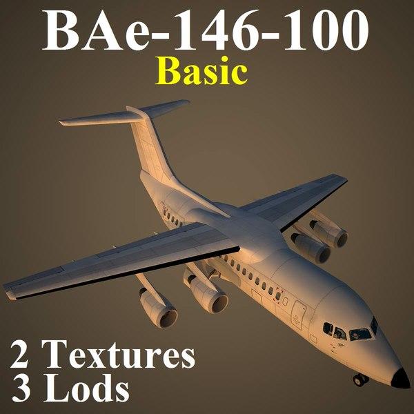3d british aerospace basic aircraft