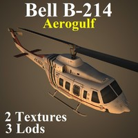 3d bell aer helicopter model