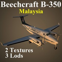 3d beech 350 rmf aircraft