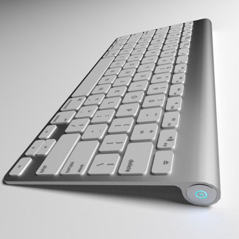3d model keyboard blender cycles