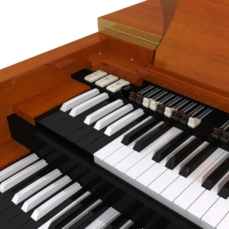 3d music keyboard model