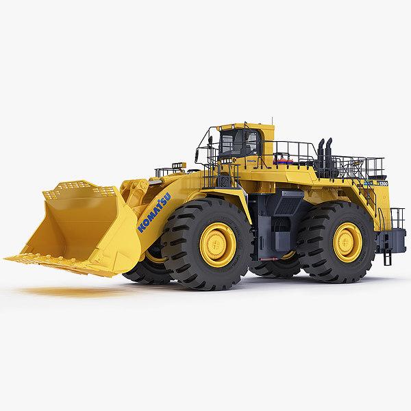 mining loader komatsu wa1200 3d 3ds