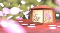 3ds scene japanese lantern