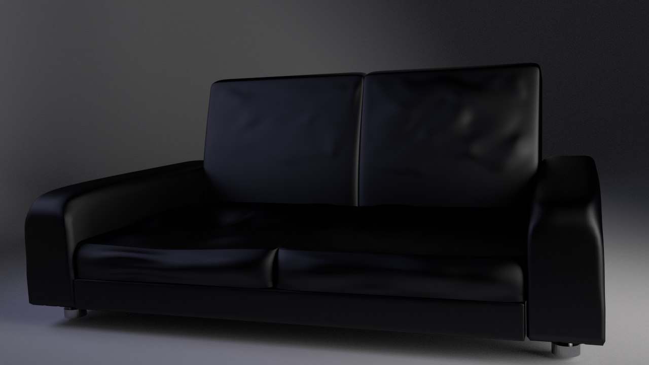 leather couch 3d blend