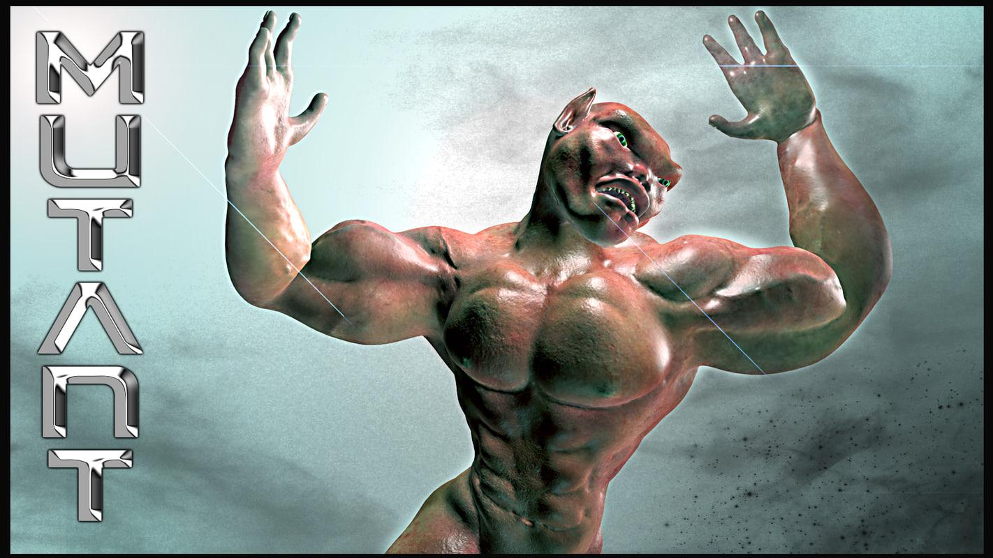 free mutant monster 3d model