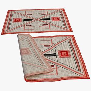 oriental rug 7 3d model