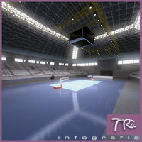 st jordi pavilion basketball 3d model