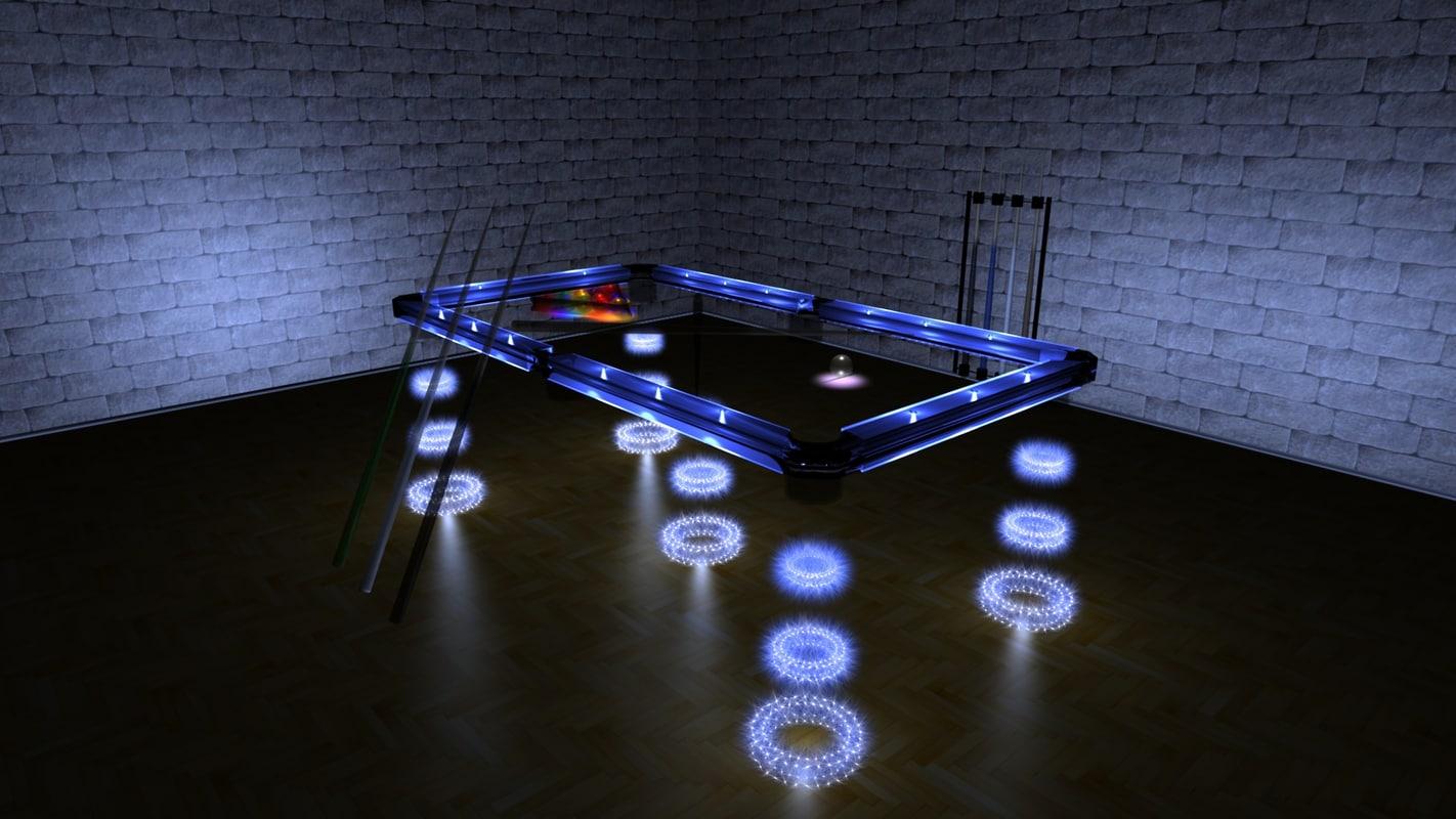 futuristic solar powered pool table 3d model