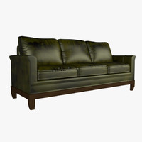 max leather modern stickley sofa