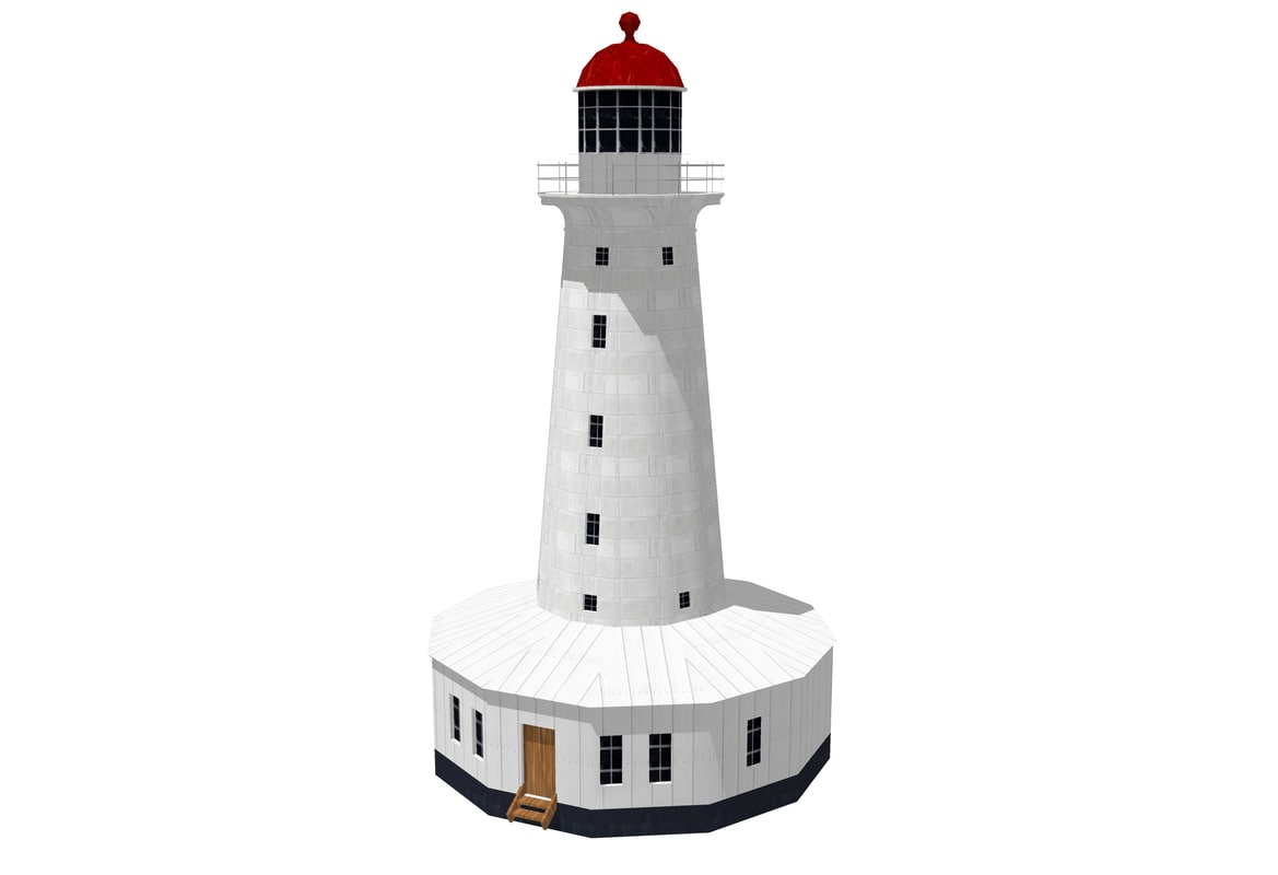 north reef lighthouse 3d model