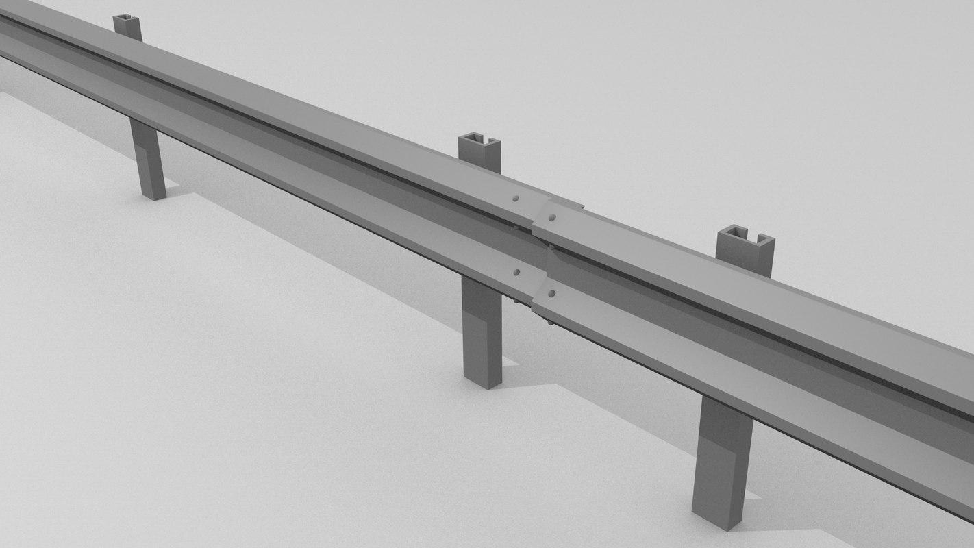 3d model traffic railing