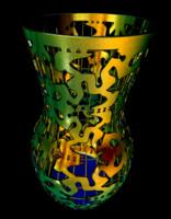 free art vase 3d model