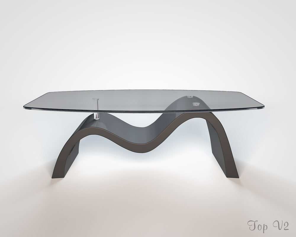 3d model wave coffee table