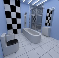 3d model bathroom bath room
