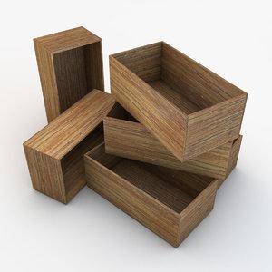 wooden crate 04 3d model