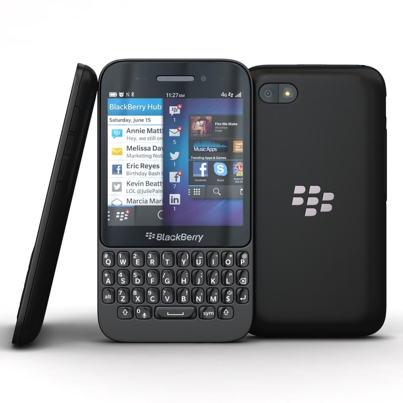 3ds blackberry q5 black