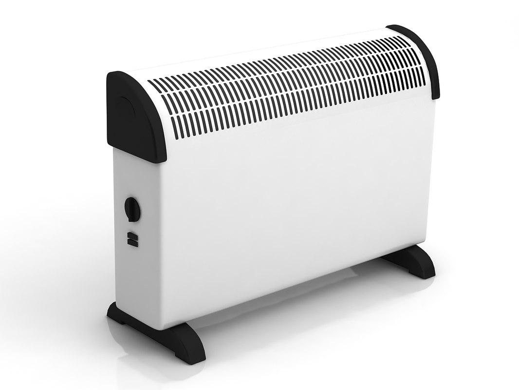 3d electric heater model