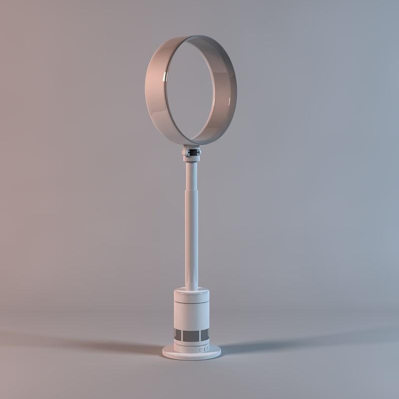 free fan multiplier pedestal 3d model