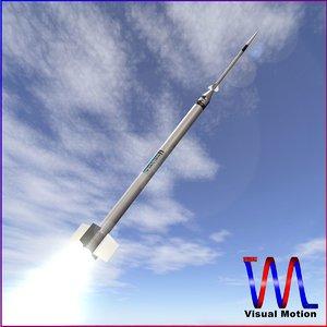 sounding rocket hopi dart 3d model