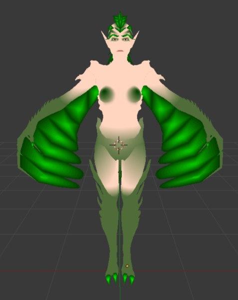 3d model lady