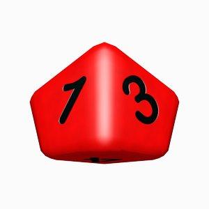 blender sided dice