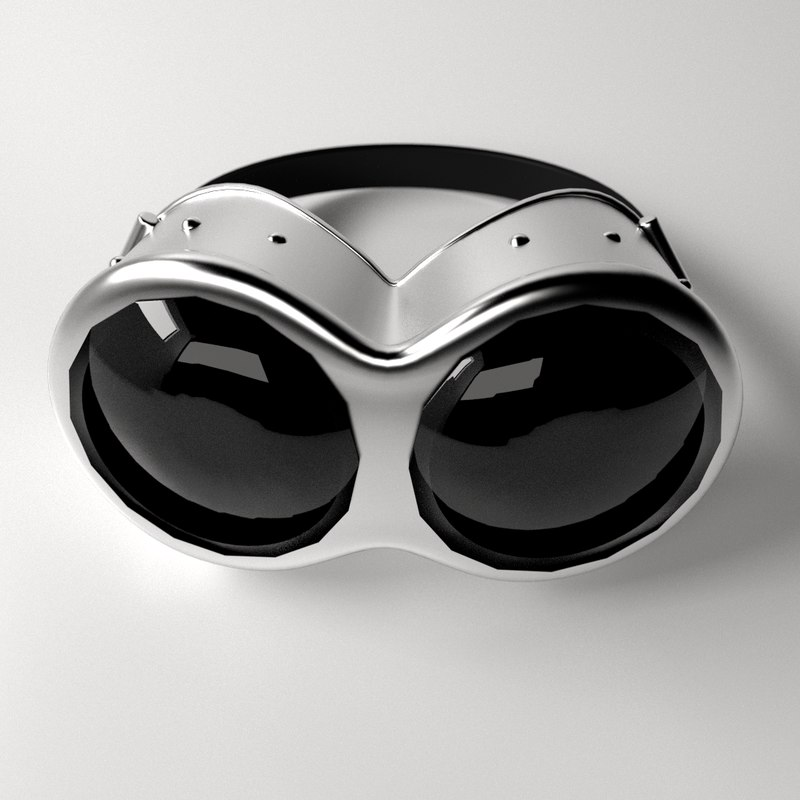 3d model of steampunk goggles