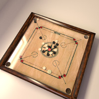 carrom board 3d model