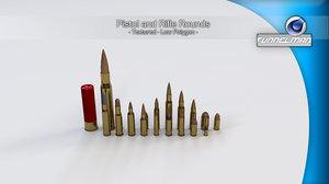 c4d bullets rounds