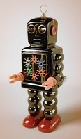 Vintage Windup Toy Robot