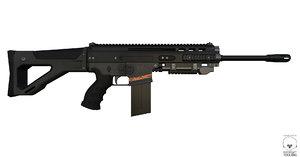 3d ready rifle model