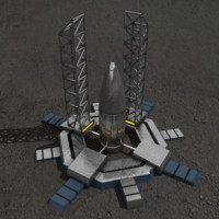 3ds max rocket silo sci-fi building